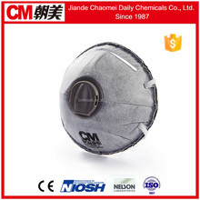 CM new cone shape smoke protection mask with valve n95 ffp1/ffp2