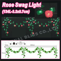 artifial flawers flower lighting christmas swag lights decoration