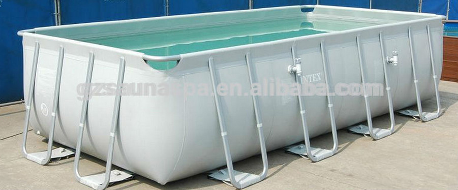 Intex Rectangular Metal Frame Inflatable Swimming Pool Buy Swimming Pool Intex Pool