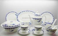 Chineses New bone china flower design dinnerware set