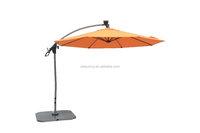 10' Alum LED Patio Banana Cantilever Outdoor Umbrella with Solar Power