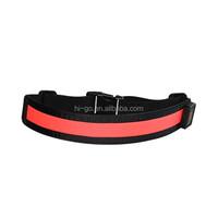 most popular led gym belt led name belts custom nylon belt with usb charger