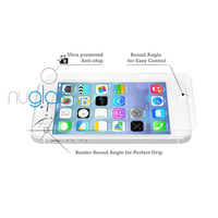 Factory Price Nuglas Tempered Glass Screen Protector For iPhone 5 With Pretty Nuglas Black Retail Package