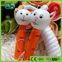 lovey animal wooden handle bearing jump rope