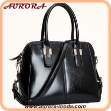 Black trend leather handbag spain