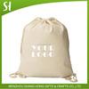 natural unbleached cotton drawstring bag