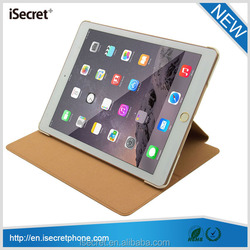 New product slim minion I-shaped leather smart case for ipad air 2 with hand belt