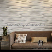 2015 new design 3d resin/petg embossed wall panel of background wall of room sofa.