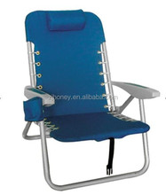 Foldable Low Seat Beach folding Chair with book bag