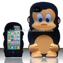 3D Monkey Soft SILICONE COVER CASE For Apple Iphone 4 4G 4S