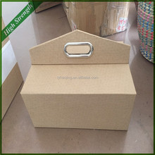linyi wicker factory directly warp and weft paper material paper picnic basket / paper rope basket / waste paper basket
