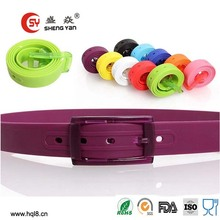 made in china silicon belt,fashion rubber belt,factory direct selling fashion belt