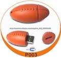 Fútbol Goma disco flash USB como regalos de Navidad