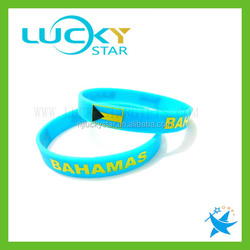 Flag Wristband Bracelet Bangle Womens Mens cheap wholesale bangle rubber