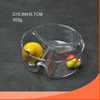 Round glass salad and fruit bowl