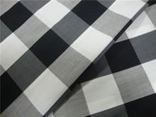 woven cotton nylon spandex check fabric