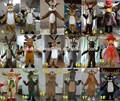 mascote manufactor no natal renas adulto traje animal de pelúcia para a venda