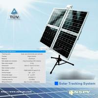 Adjustable solar ground mounting bracket solar pv aluminium frame rack solar panel pv dual axis solar tracker