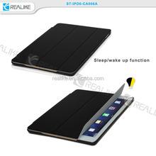 Carbon Fiber Stand Smart Cover Folding Folio Case For Apple iPad Air 2