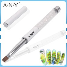 ANY Nail Art UV Gel Nails Building Crystal Pure Kolinsky Nail Art Brush Flat Gel Art