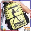 yellow zombie waterproof drawstring backpack beach bag BBP117