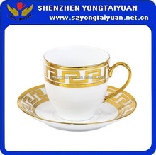fashion design fine porcelain cup and saucer