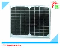 Tempered galss Mono/Poly 10W solar panel