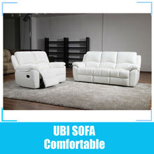 White leather recliner sofa MY8805