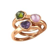 Monogram Crystal And Rhinestone Bezel Setting Rose Gold fashion jewelry made in china wholesale