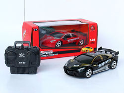 Hot selling 1:24 rc hot wheels toy cars with red black color