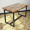 (SP-RT465) High end long solid wood industrial restaurant table