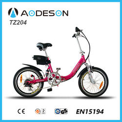 SGS EN15194 Certificates mini foldable electric bike TZ204with lithium battery pocket bikes for girl easy ride