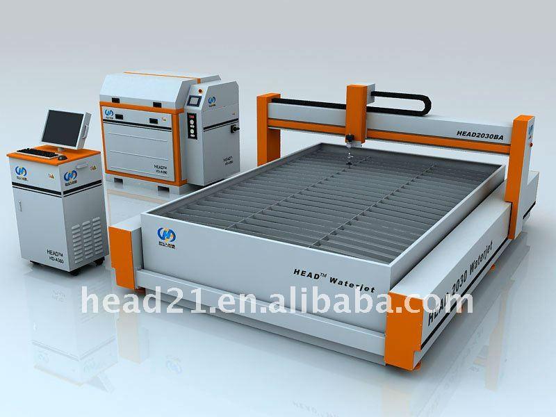 Cabeça CNC hidráulico de alta pressão máquina de corte a jato / equipamento / aparelho / sistema, Cortador para o plástico de um trabalho de precisão