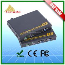 VGA Uncompressed Video Fiber Optic Independent analog audio with RS 232 local VGA loop-through Fiber Optic Extender Fiber Optic