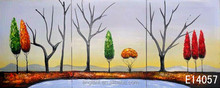hand painted tree landscape oil painting with frames