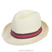 Womens Mens Fedora Trilby Gangster Cap Summer Beach Sun Straw Panama Hat Cap