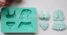 La ropa de silicona en forma de fondant de chocolate&& molde de pastel de venta al por mayor