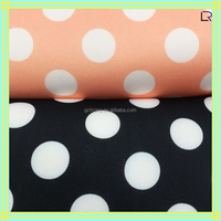 new fashion polyester scuba fabric with printed pattern