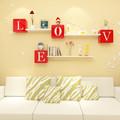 2015 projeto novo amor mdf cubo prateleira de parede para a decoração