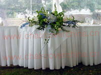 White round table skirts for wedding