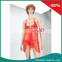 Red Transparent Sexy Lingerie Overskirt 836#