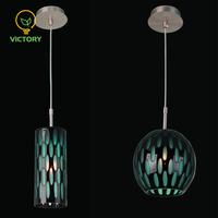 Murano colored 40w e27 cheap glass pendant light for chandelier