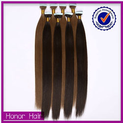 Promotion! factory price unprocessed indian human hair, tape hair 100% virgin indian hair