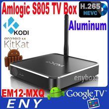 AML S805 CortexA5 1.5G android 4.4 external antenna google tv box bluetooth 4.0 ethernet