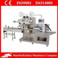 HM-BZ3060 electric reciprocate full automatic wet towel packing machine
