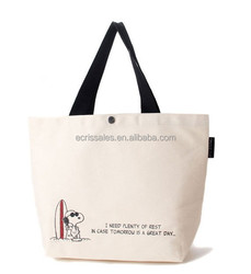 Snoopy canvas super of shopping bags Buckles environmental protection bags Female bag