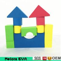 Melors EVA intelligence building blocks toys DIY Enlighten Intelligent block eco-friendly Educational eva foam building block