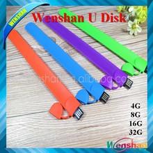Lowest Price Factory Supply Bracelet Wrist Pendrive 16gb USB Elastic Band