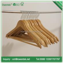 Deluxe Wooden SUIT/COAT Leather Coating Hanger