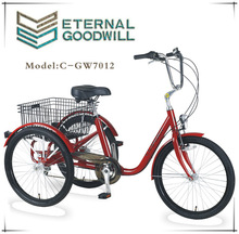 China GW7012 adult cargo tricycle with three wheels 6 speeds bike